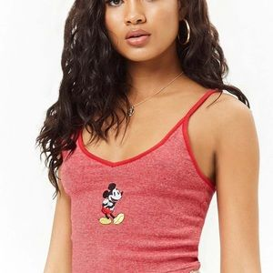 F21 Disney Mickey Mouse Cropped Tank Top NWT